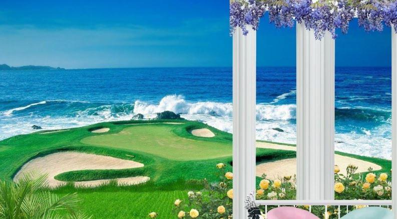 海の見えるゴルフ場